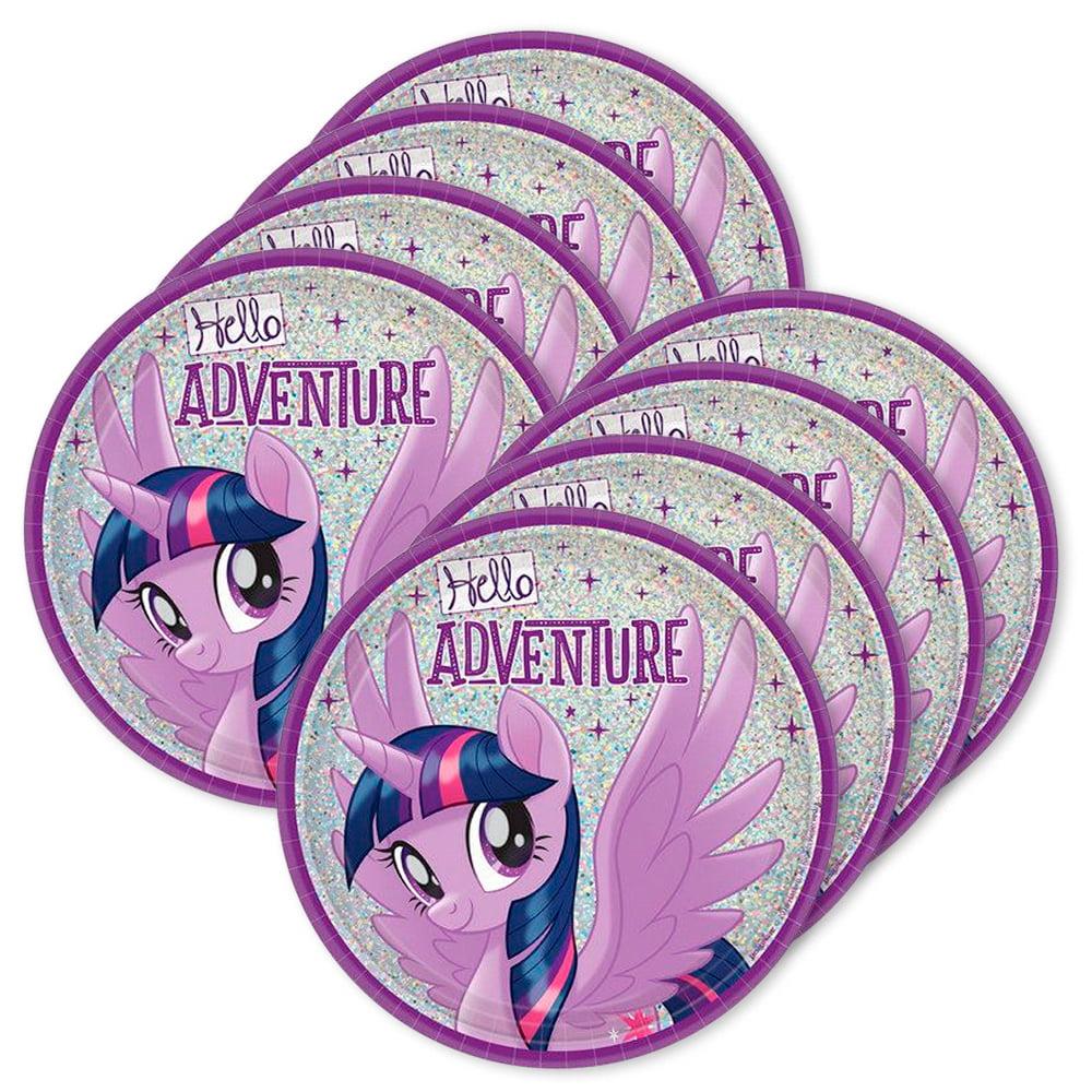 "My Little Pony Party Supplies Friendship Adventures 7"" Prismatic Dessert Plate (24)"