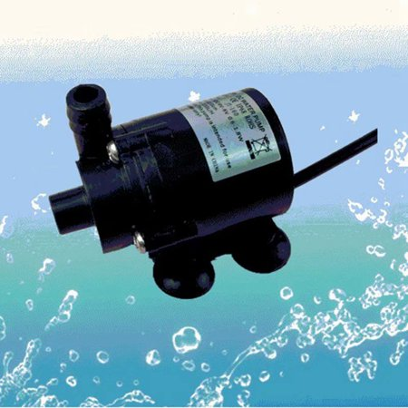 VicTsing Black 12V DC Brushless Small Water Pump Submersible Motor Pump 280L/H with 1M Power Cord ()