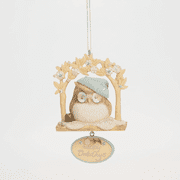 Karen Hahn Foundations 4041251 Owl on Perch Ornament NEW 2014