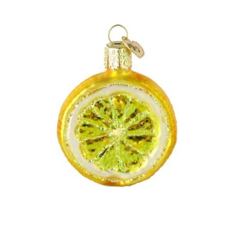 Ornaments: Lemon Slice Glass Blown Ornaments for Christmas Tree, ORNAMENTS FOR CHRISTMAS TREE: Hand crafted in age-old tradition with techniques that orginated.., By Old World - Tree Slices For Sale