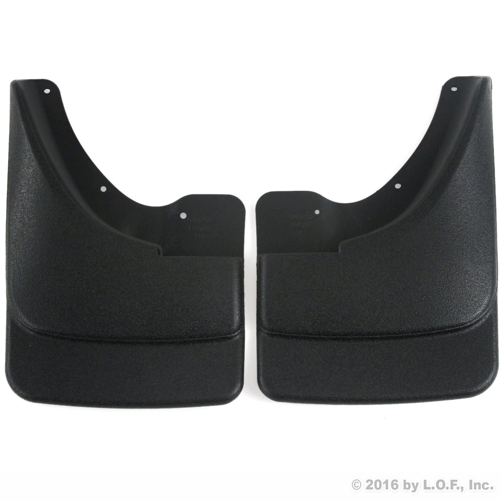 2002-2008 Dodge Ram 1500 Mud Flaps Guards Splash Front Molded 2pc Set (Without Fender Flares) by Red Hound Auto