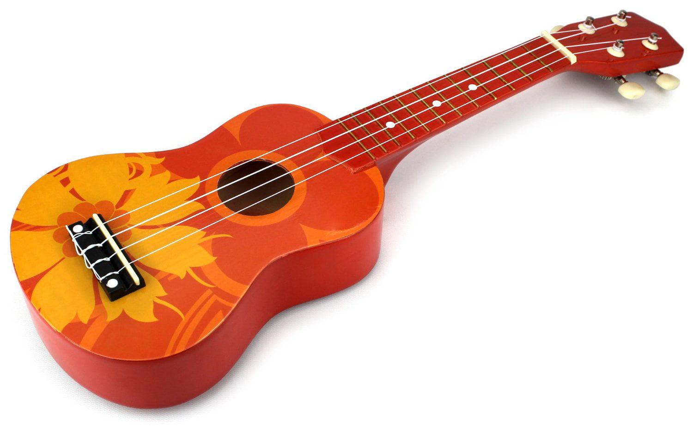 Velocity Toys Classic Ukulele 4 Stringed Toy Guitar Lute Musical Instrument (Orange) by Velocity Toys