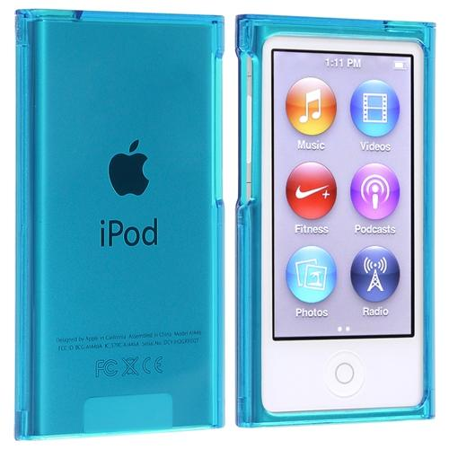 Insten Snap-on Slim Case For Apple iPod nano 7 7th Generation, Clear Blue