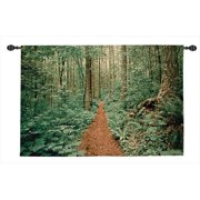 Manual Woodworkers and Weavers HWGFOT Forest Trail Tapestry Wall Hanging Horizontal 53 X 35 inch