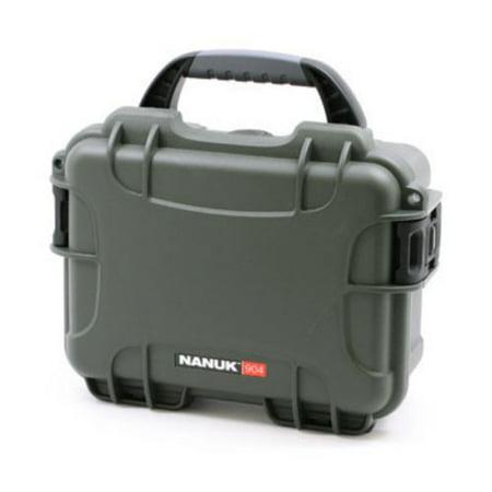 Nanuk 904-1006 Hard Plastic Waterproof Case with cubed foam insert