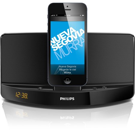 Phillips Clock Dock With Lightening Connector Charge and Plays Music on iPod/iPhone (Open Box - Like