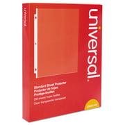 Universal Standard Sheet Protector, Standard, 8 1/2 x 11, Clear, 200/Box -UNV21122