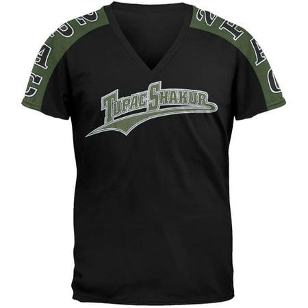 Mens Tunic Shirts (Tupac - Athletic Logo T-Shirt )