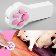 New Funny Pet Cat Dog Interactive Automatic Red Laser Pointer Exercise Toy White