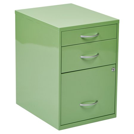 - Osp Designs 3 Drawer Vertical Metal Lockable Filing Cabinet, Multple finishes