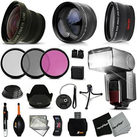 Ultimate 58mm FishEye Lens Accessory Kit for Sony Alpha a7II, a7IIK, Alpha 7 II, Alpha, 7, 7S, 7R, Alpha 7, Alpha (Best Lenses For Sony A7ii)