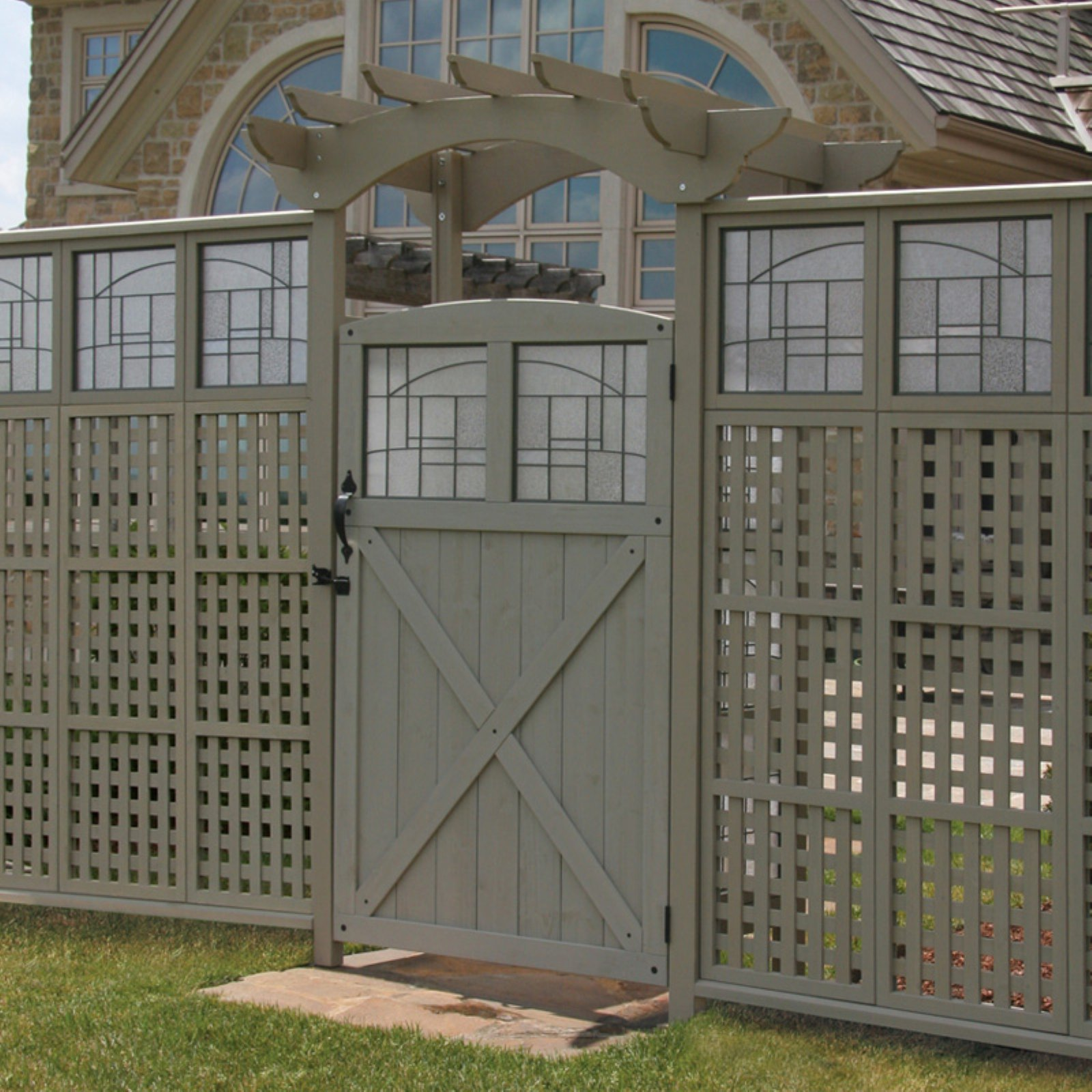 Yardistry Faux Glass Gate - Grey