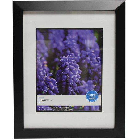mainstays wide picture frame 11x14 matted to 8x10