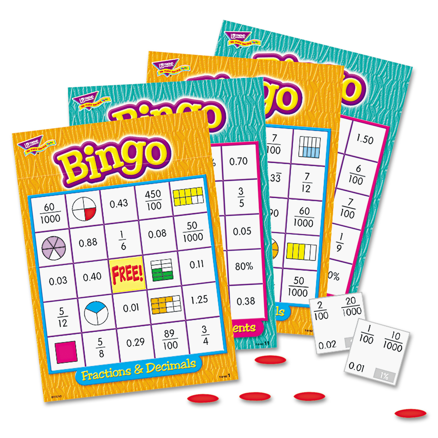 TREND Bingo Game, Fractions
