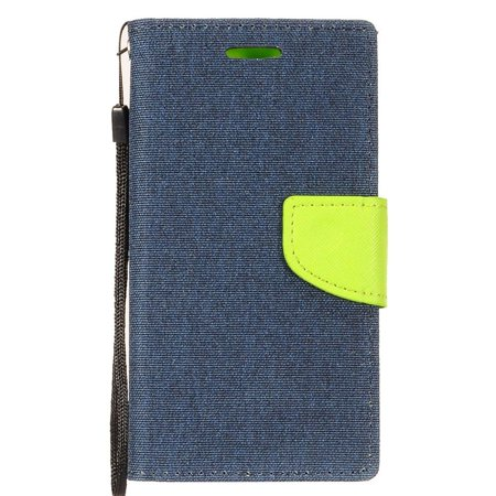 brand new 6a3b1 36fdc Alcatel Revvl Plus Phone Case by Insten Denim Fabric Folio Flip Leather  Case Stand Cover [ID Credit Card Holder Slot] Wallet Pouch For Alcatel  Revvl ...