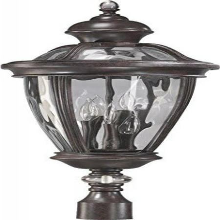 Granite Light Post - Quorum-Five Light Baltic Granite Clear Glass Post Light-7221-5-45