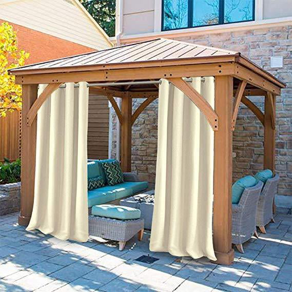 """50x108"""" Outdoor Curtain Panels Patio Privacy Screen Panel"""