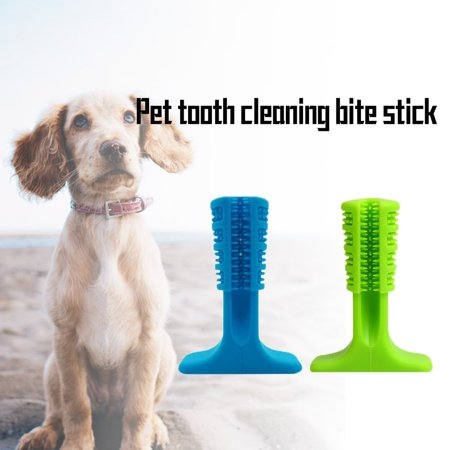 Silicone Molar Stick Rubber Bite Bar Pet Teeth Cleaning Dog Toy Toothbrush - image 4 de 10