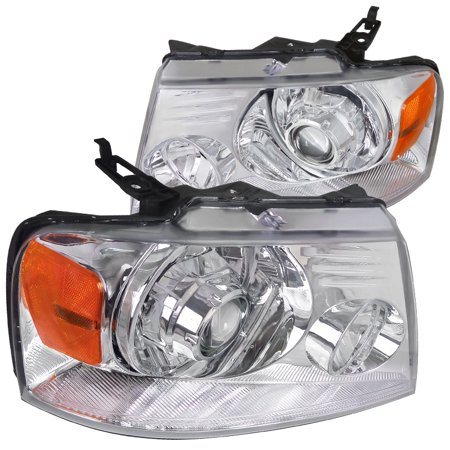 Spec-D Tuning 2004-2008 Ford F150 Lincoln Mark Lt Retrofit Style Projector Headlights 2004 2005 2006 2007 2008 (Left + Right)