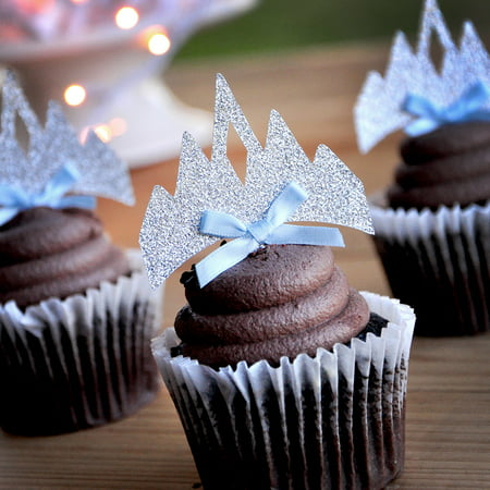 Elsa Crown Cupcake Toppers 12CT. Handcrafted in 1-3 Business Days. Frozen Birthday - Frozen Cupcake Topper