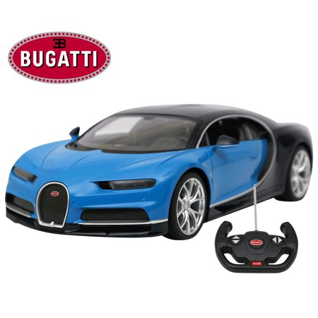 Licensed RC Car 1:14 Scale Bugatti Chiron   Rastar Radio Remote Control 1/14 RTR Super Sports Car Model Blue ()