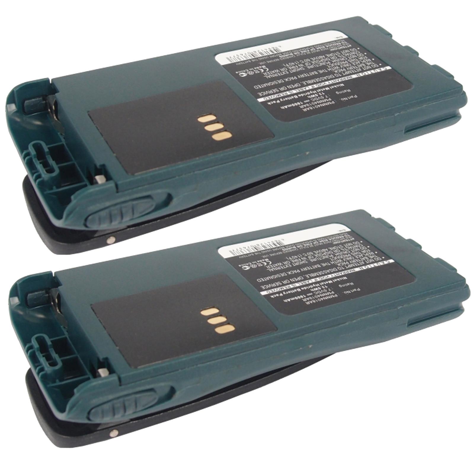 2x 7.5V 2500mAh Ni-MH FRS 2way Radio Battery Fits Motorol...