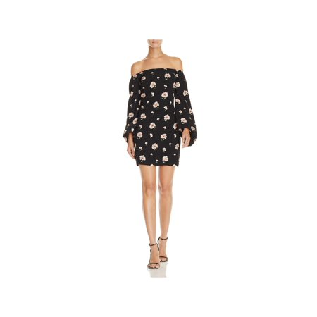 Lucy Paris Womens Floral Off-the-Shoulder Casual Dress Black M](Lucy Dress Peanuts)