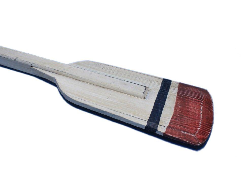 """Wooden Bristol Squared Rowing Oar w  Hooks 36"""" Beach Bedroom Decor Oar Decor by Handcrafted Nautical Decor"""