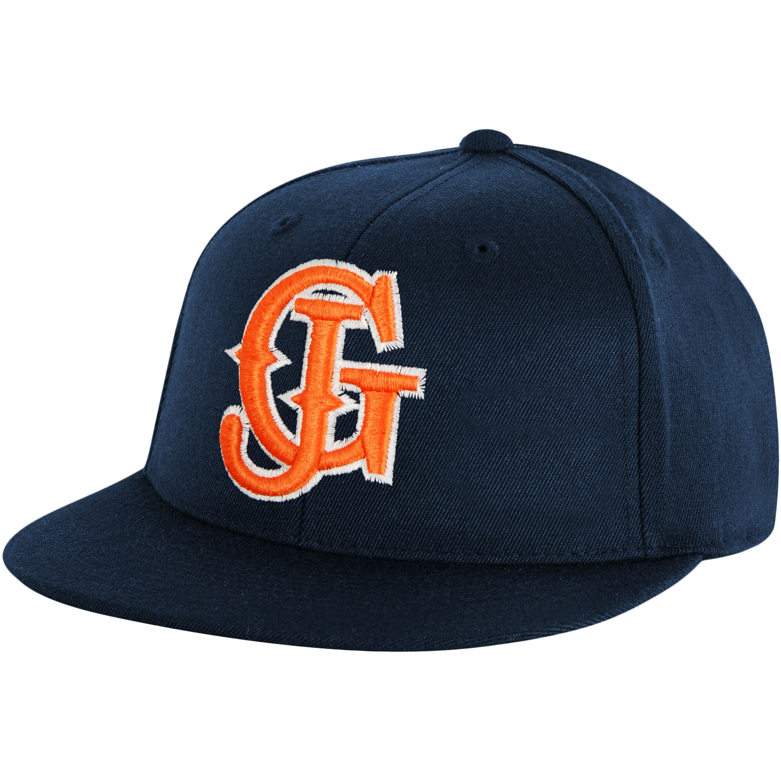 Glassjaw Men's  Blue With White And Orange Baseball Cap Blue
