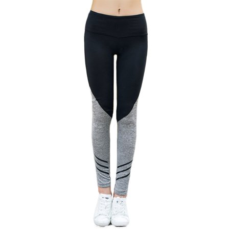 cf9e6a1423 Maks - Girls or Junior Women's Two Tone Compression Tights Active Stretch  Fitness Yoga Pants Running and Jogging Leggings - Walmart.com