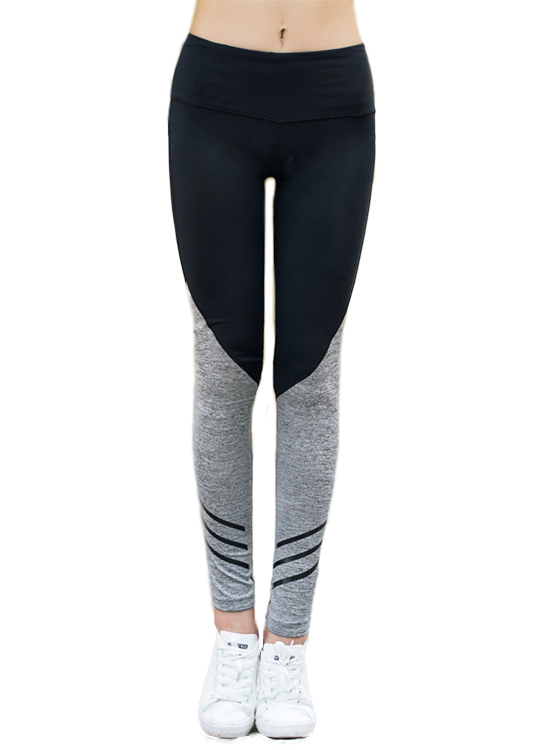 Girls or Junior Women's Two Tone Compression Tights Active Stretch Fitness Yoga Pants Running and Jogging Leggings