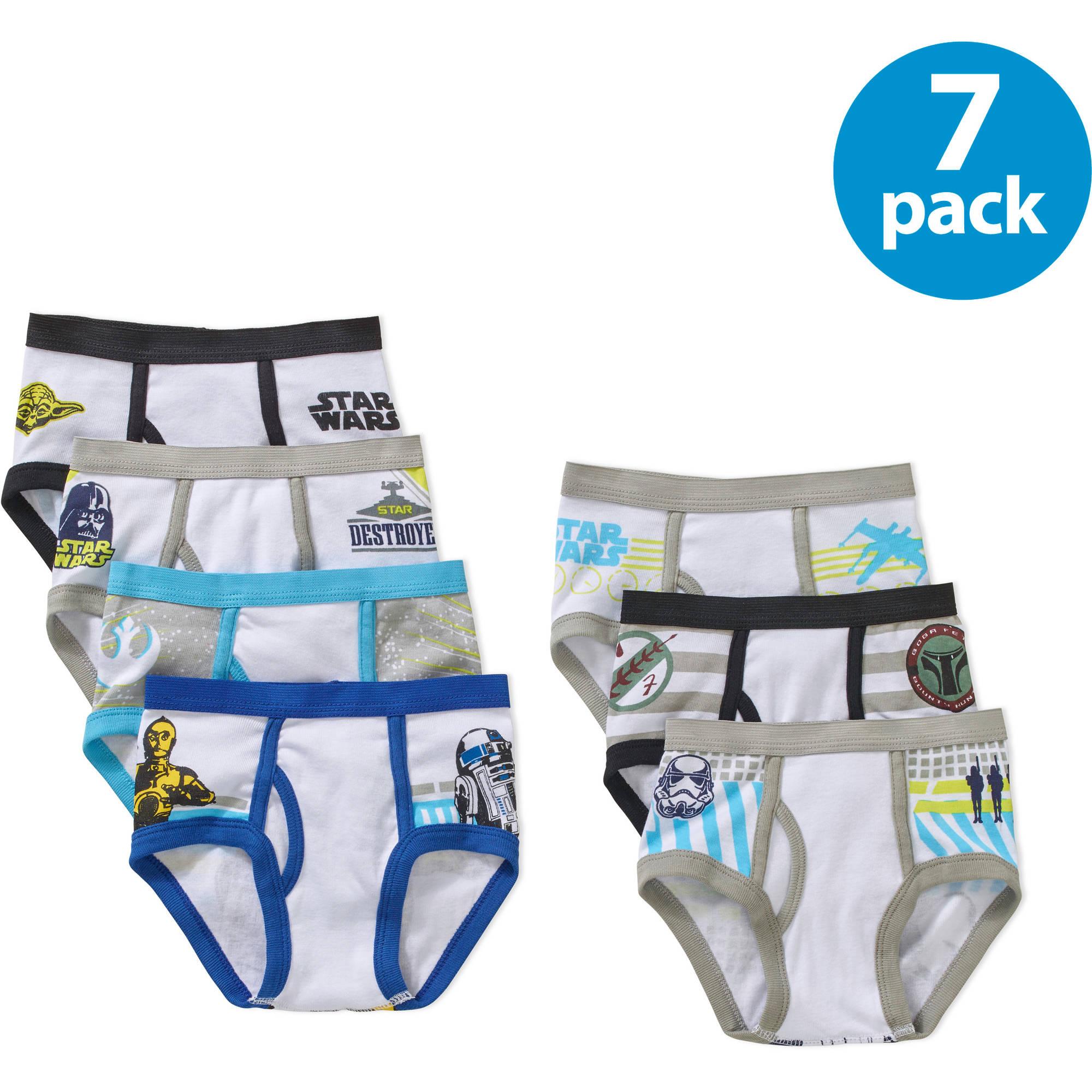 Star Wars Toddler Boys Underwear, 7 Pack Briefs