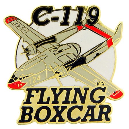C-119 Flying Boxcar Airplane Pin 1 1/2