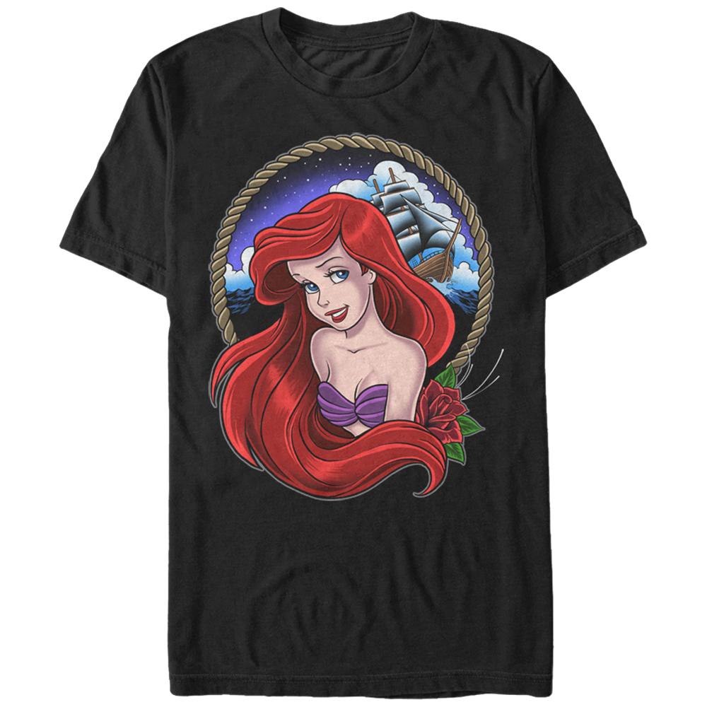 The Little Mermaid Men's Ariel Rope Frame T-Shirt