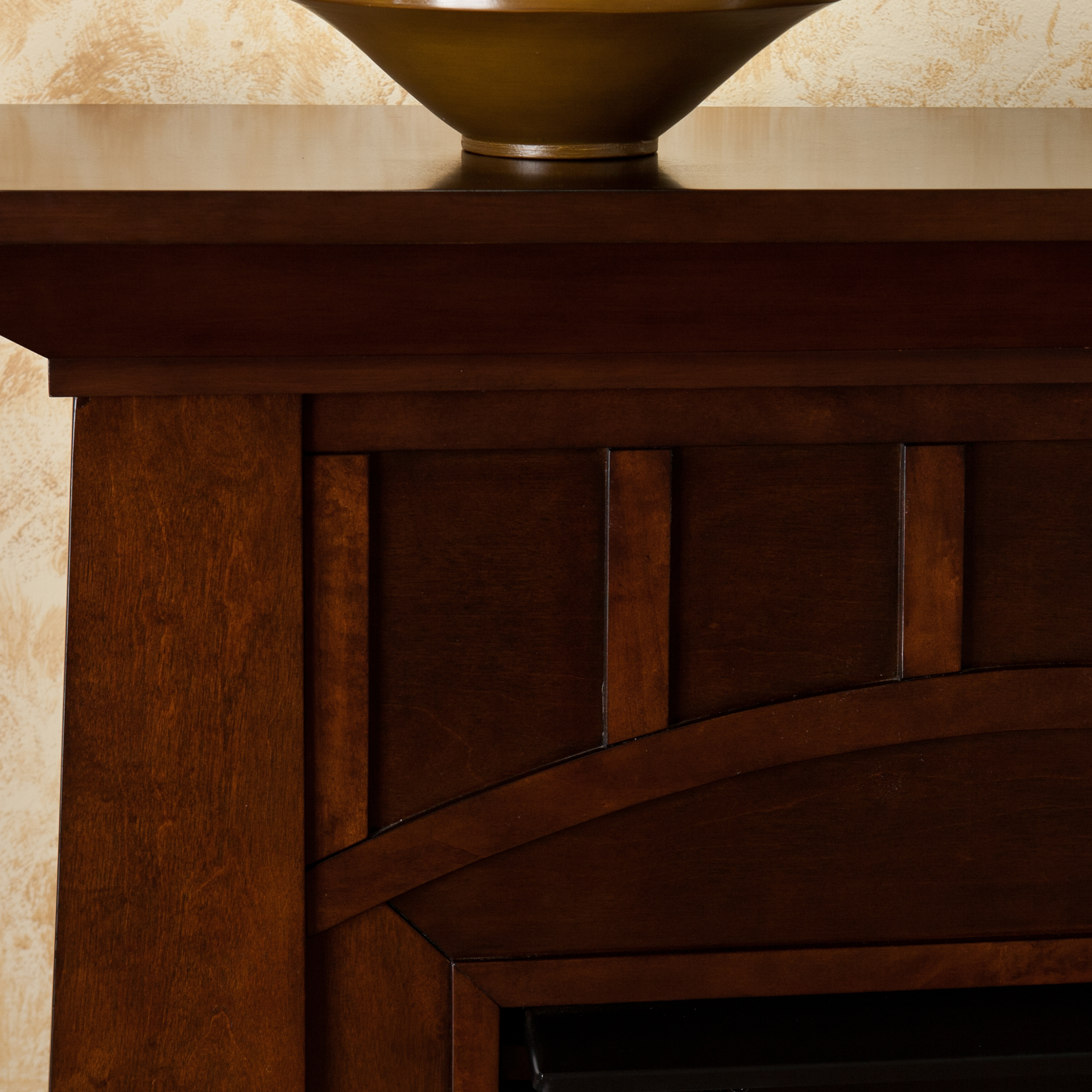 Bayard Espresso Electric Fireplace - Walmart.com