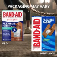 Band-Aid Brand Flexible Fabric Adhesive Bandages, Assorted, 30 ct