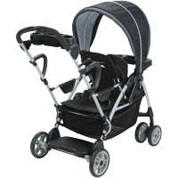 Graco RoomFor2 Click Connect Stand and Ride Double Stroller, Gotham