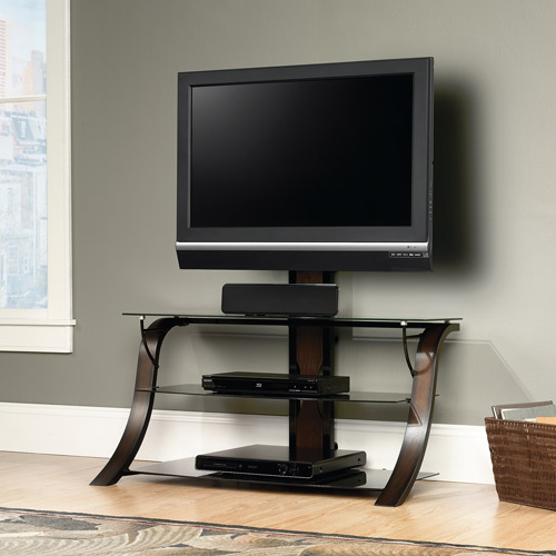 "Sauder StudioEdge Veer TV Stand with Mount for TVs up to 50"", Black"