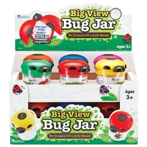 Learning Resources Big View Bug Jars, Set of 12 by LEARNING RESOURCES