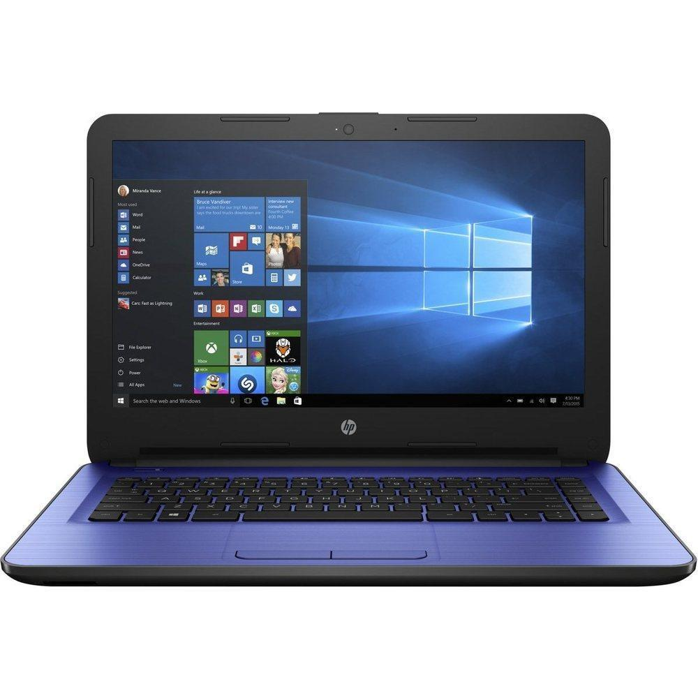 HP 14-am052nr W2M36UA Notebook PC - Intel Celeron N3060 1.6 GHz Dual-Core Processor - 4 GB DDR3L SDRAM - 32 GB SSD - 14-inch LED
