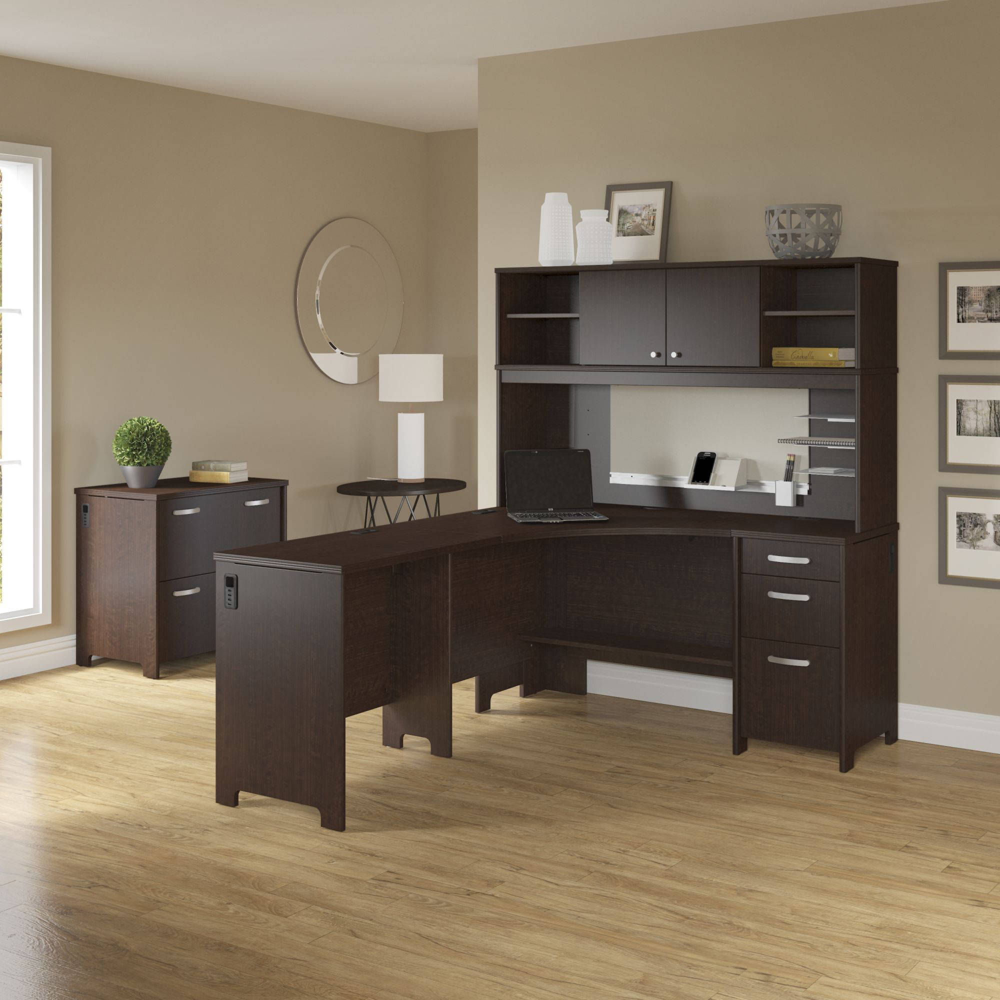 Activate Corner Desk and Hutch with Storage