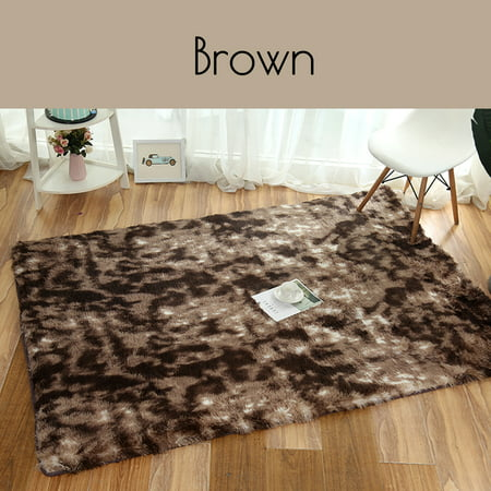 Modern Super Soft Fluffy Floor Rug Washable Anti Skid Shag Shaggy Area Rug Bedroom Dining Room Carpet Yoga Mat Child Play Mat