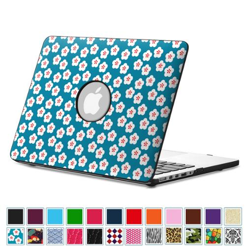 "Fintie MacBook Pro 13.3"" Retina Case (A1502 / A1425) - PU Leather Coated Hard Cover Snap On Protective Case, Floral Blue"