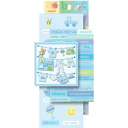 K & Company Flip Pack Sticker Embellishments, Baby Boy