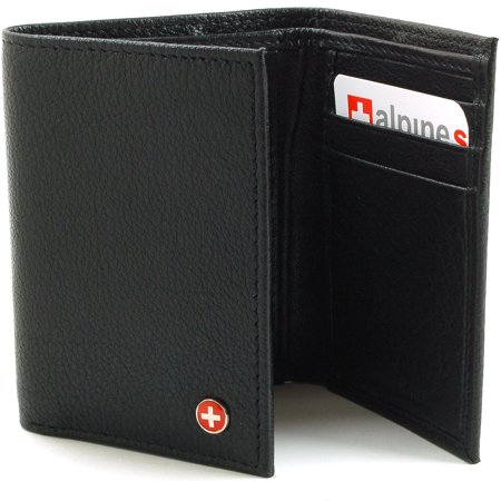 Geoffrey Beene Tri Fold Wallet (Alpine Swiss Mens Trifold Wallet Genuine Leather )