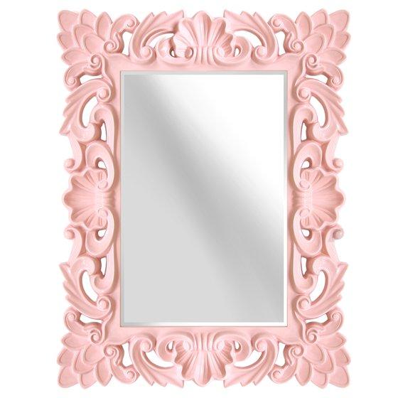 Isabel Ornate Blush Pink Accent Wall Mirror - Walmart.com