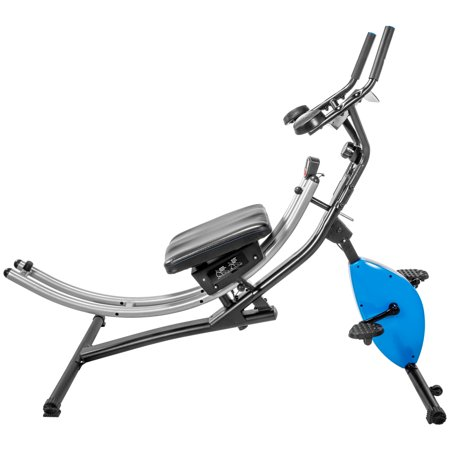 XtremepowerUS 2 IN 1 Abdominal Crunch Coaster with Excise Bike Fitness