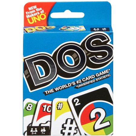 DOS Card Game From the Makers of UNO for 2-4 Players Ages 7Y+ ()