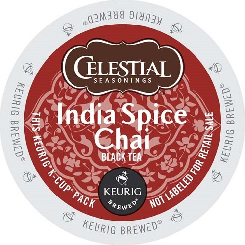 Celestial Seasonings K-Cup Portion Tea for Keurig Brewers - India Spice Chai
