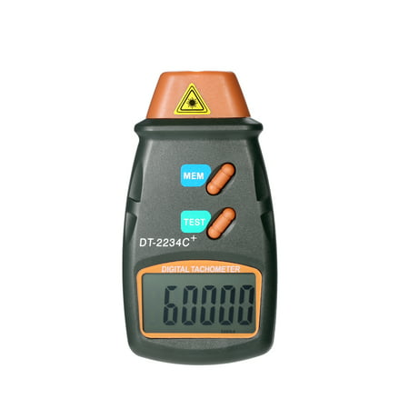 Handheld Digital Photo Tachometer Laser Non-Contact Tach Range 2.5RPM-99,999RPM LCD Display Motor Speed Meter with 3pcs Reflective